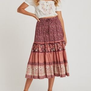 ISO!! Arnhem fleetwood skirt pomegranate au size 6